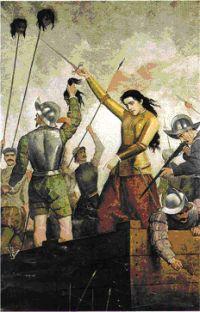 El primer ataque a Santiago