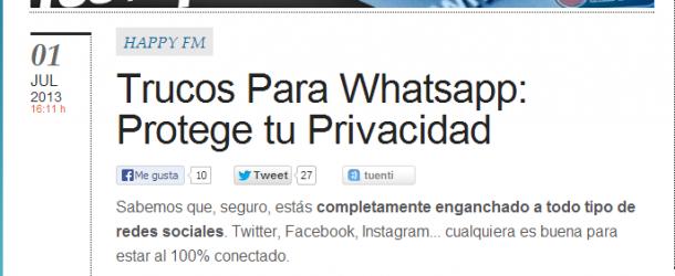 Consejos para mantener la privacidad en WhatsApp